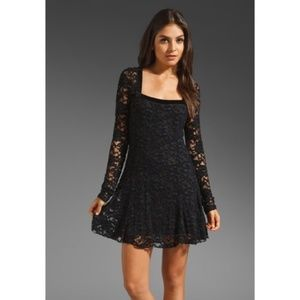 Free People Long Sleeve Lace Flirt for You Dress
